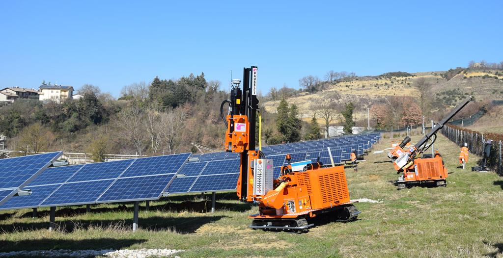 Macchine battipalo pauselli per installaizone pannelli fotovoltaici