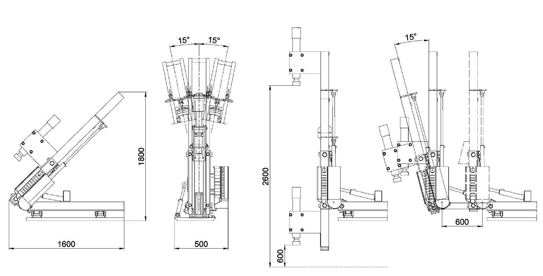 Misure e disegno tecnico battipalo modello 300B