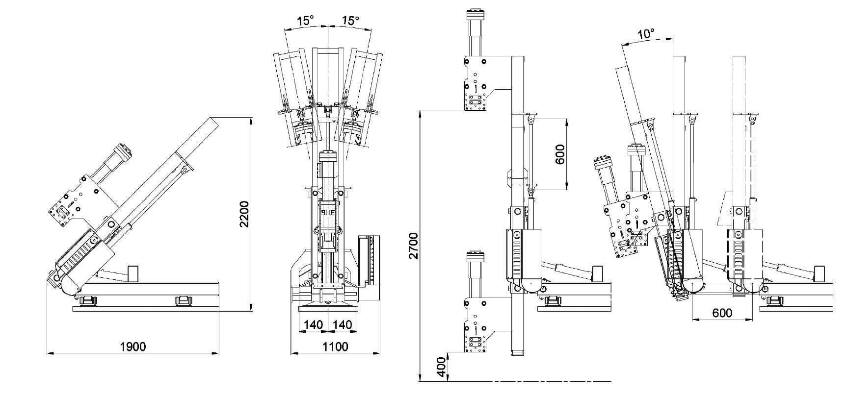 Misure e disegno tecnico battipalo modello 500B