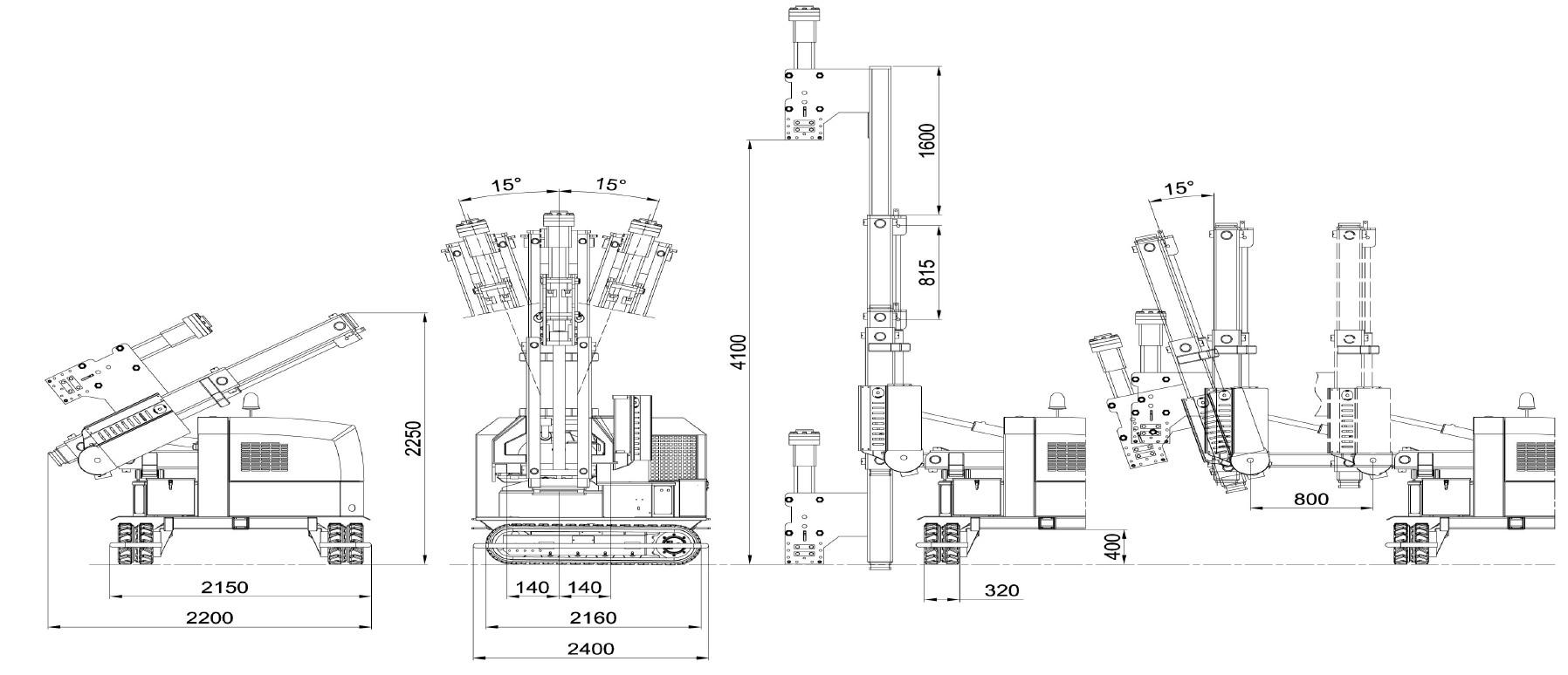 Misure e disegno tecnico battipalo modello 900