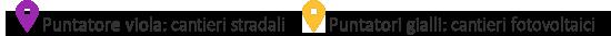 Puntatori googlemaps Pauselli viola e giallo