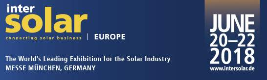 Fiera Intersolar Europe 2018 20 - 22 Giugno