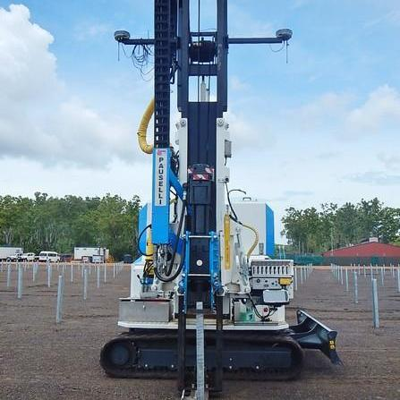 Pile driver machine mod. 1200_Solar park in Darwin, Australia